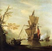 Monamy, Peter Stern view of the Royal Caroline oil painting picture wholesale